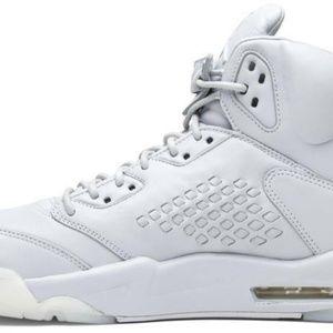 "Nike Shoes - NIKE AIR JORDAN 5 RETRO PREMIUM ""TAKE FLIGHT"" PURE"